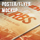 Poster & Flyer Perspective Mockup - GraphicRiver Item for Sale