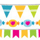 Birthday Vector Bunting Flags Set - GraphicRiver Item for Sale