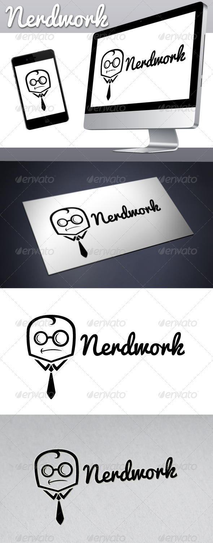 Geek Work (Nerd Work) Logo