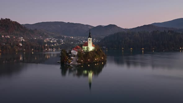 Morning Timelapse Lake Bled, Slovenia