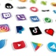 30 Backgrounds of Social Media Icons and Services - Loop  - VideoHive Item for Sale
