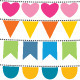 Multicolor Vector Bunting Set - GraphicRiver Item for Sale