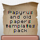 Papyrus And Old Papers Templates Pack - GraphicRiver Item for Sale