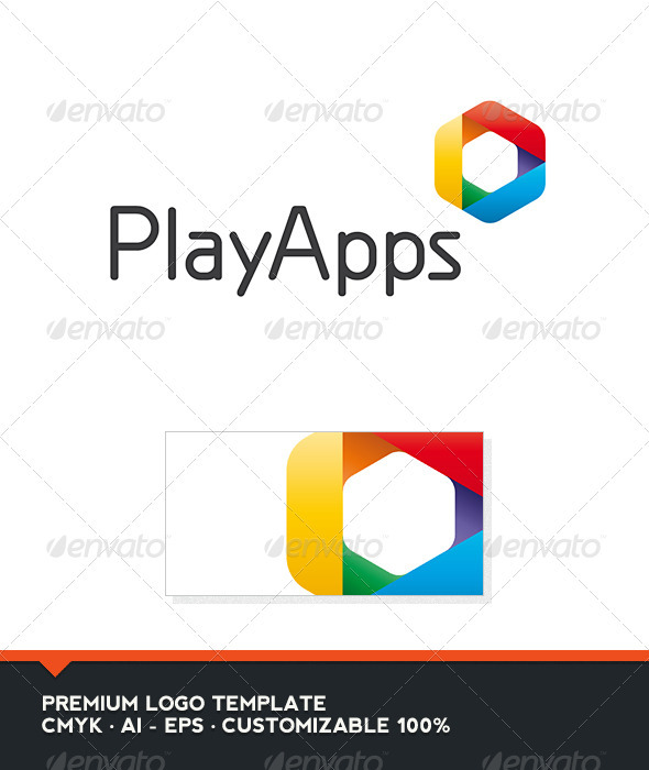 Play Apps Logo Template