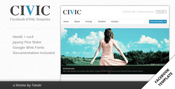 Civic Corporate Facebook Template