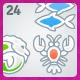 24 AI Malibu Astrology icons - GraphicRiver Item for Sale