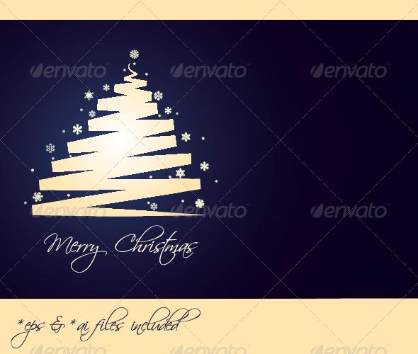 Merry Christmas – Vector Christmas Card