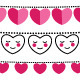 Pink Hearts Valentine Bunting Flags Set - GraphicRiver Item for Sale