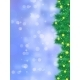 Christmas Tree Branch on a Blue Background - GraphicRiver Item for Sale