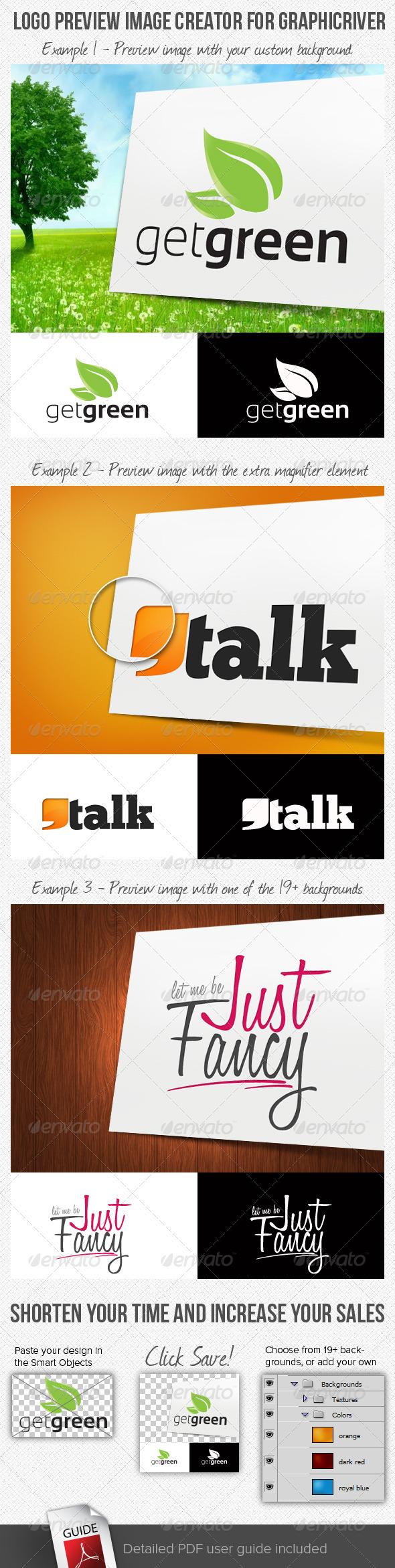 Logo Preview Image Creator for GraphicRiver