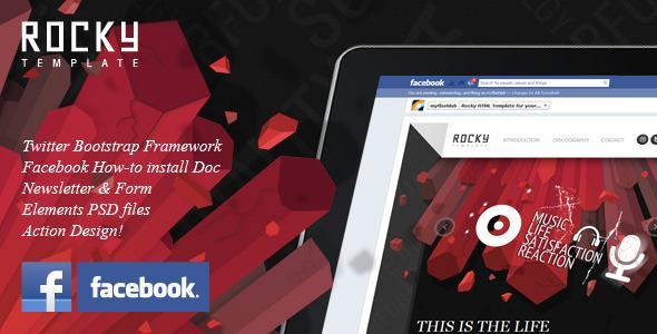 Rocky Facebook Fan Page Template