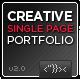 Creative Single Page Portfolio - ThemeForest Item for Sale