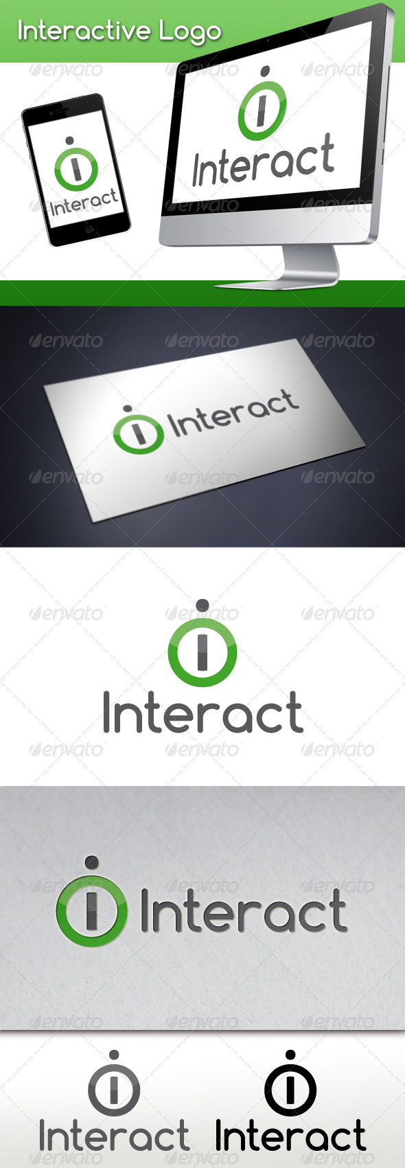 Interactive Letter I Logo Template