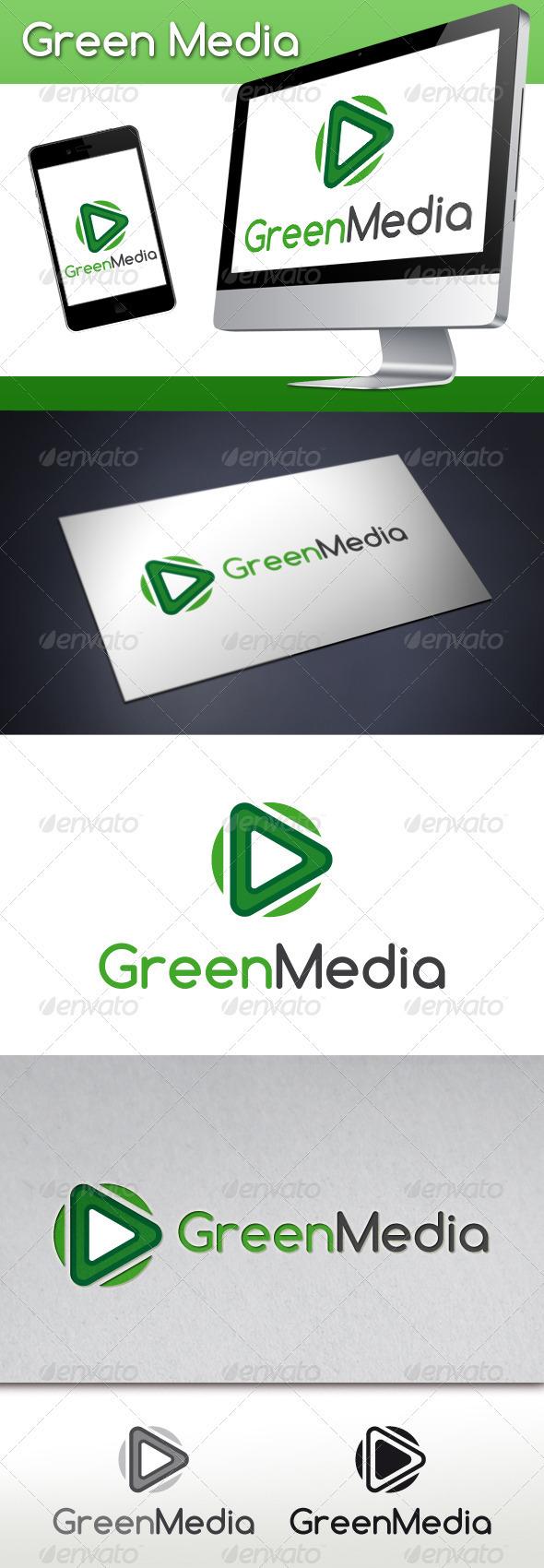Green Media Logo Template
