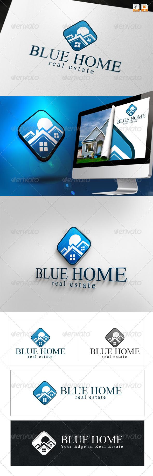 Blue Home - Real Estate Logo