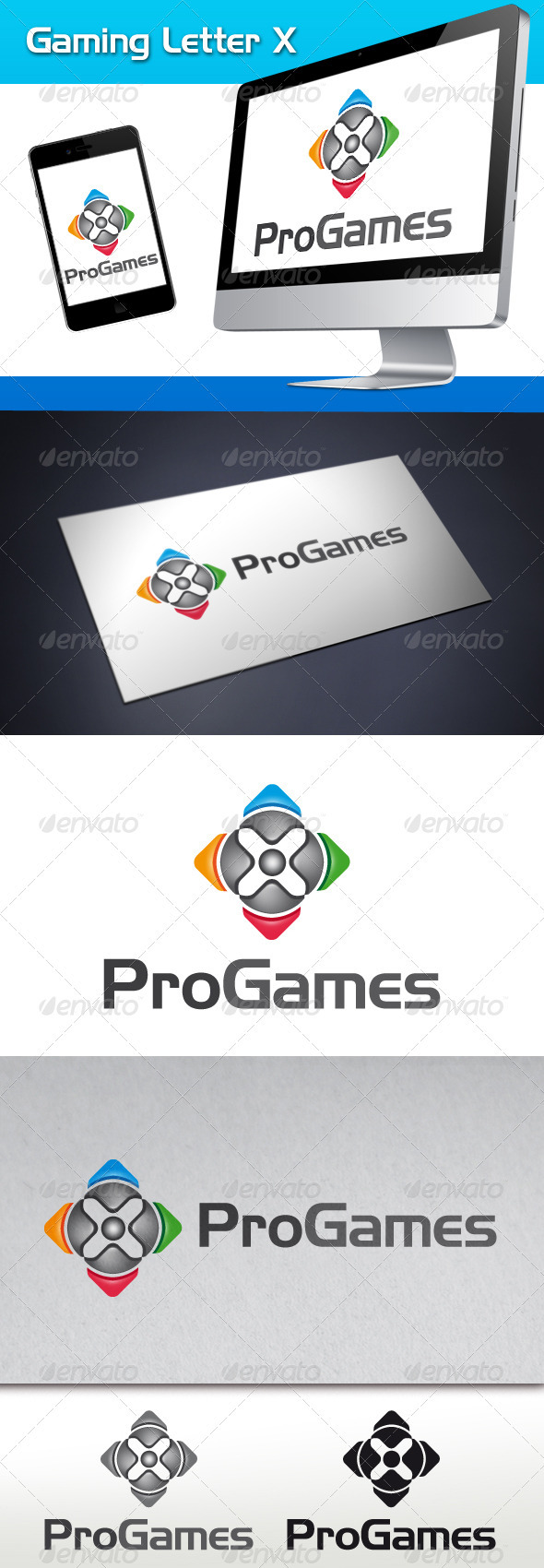 Gaming Letter X Logo Template
