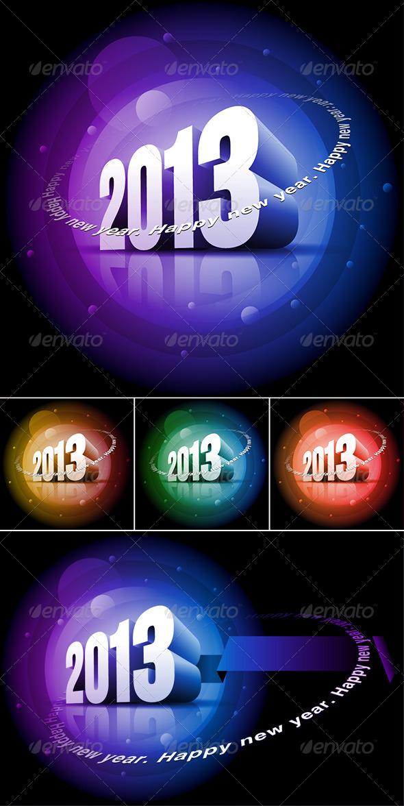 3d 2013 Happy New Year