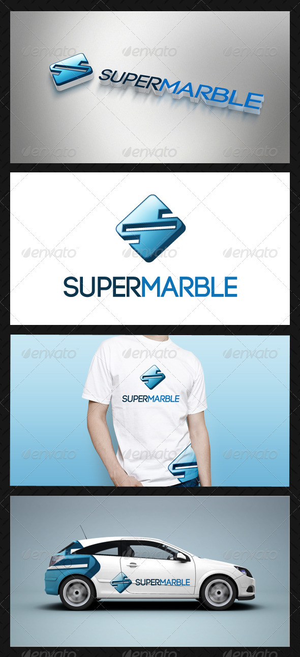 Super Marble Logo Template