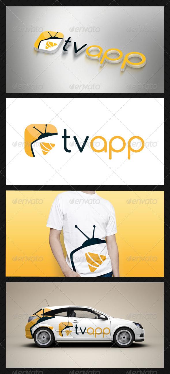 Media Tv Player Logo Template