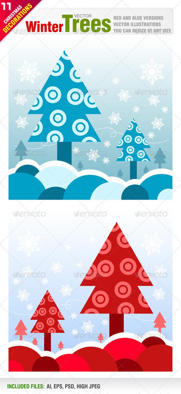 Winter Tree Designs