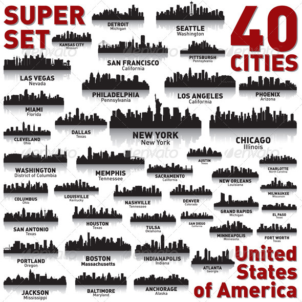 Incredible City Skyline Set - United States