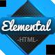 Elemental - Uniquely Designed HTML Template  - ThemeForest Item for Sale