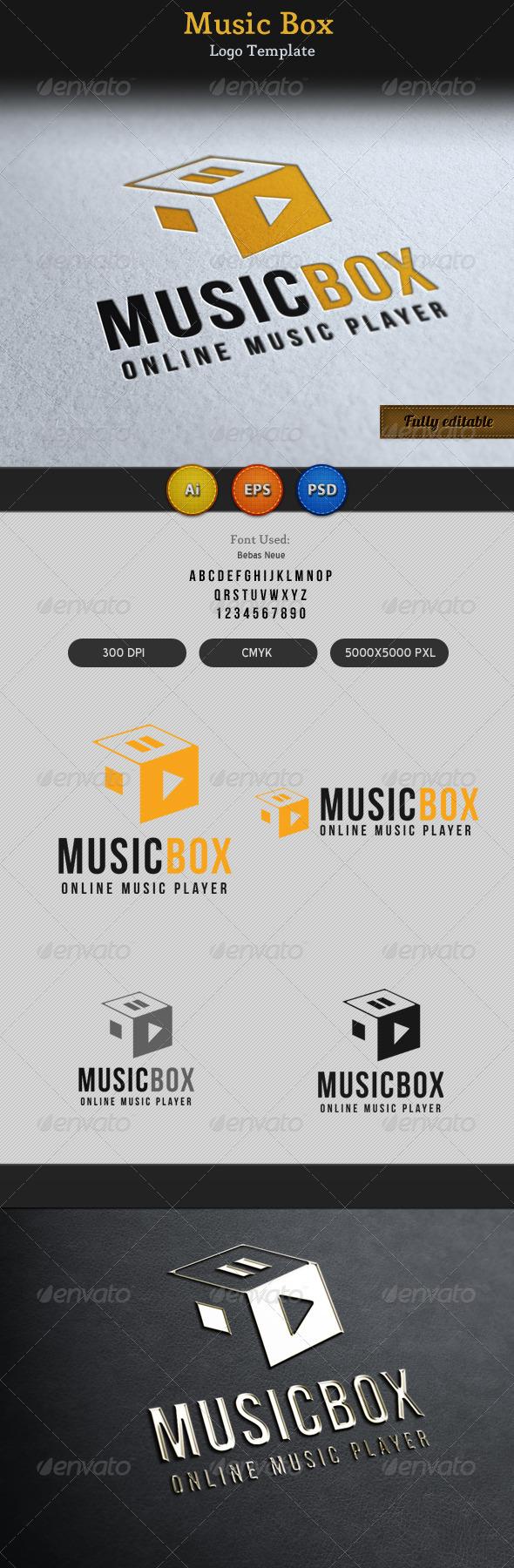 Music Song Play Box Logo