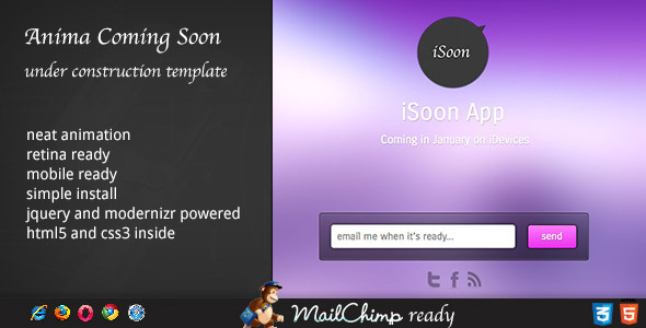 Anima - Coming Soon Template