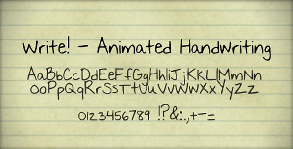Videohive | Write! - Animated handwriting Free Download free download Videohive | Write! - Animated handwriting Free Download nulled Videohive | Write! - Animated handwriting Free Download