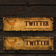 Old School Social Media Buttons - GraphicRiver Item for Sale