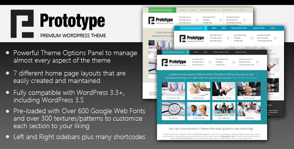 Prototype – Premium WordPress Theme Nulled