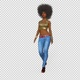Afro Beautiful Girl, Fashion Model Walks  - VideoHive Item for Sale