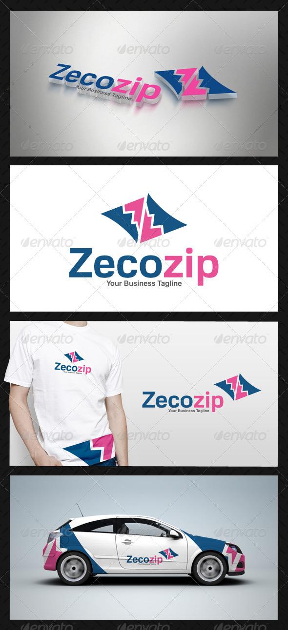 Abstract Zip Logo Template