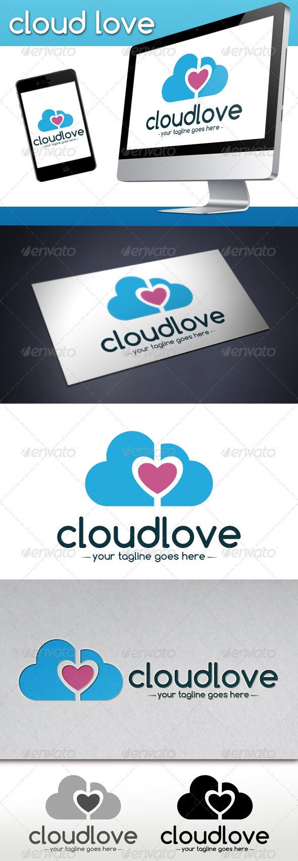 Cloud Love Logo Template