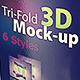 Tri-fold 3D Mock-up Pack - GraphicRiver Item for Sale