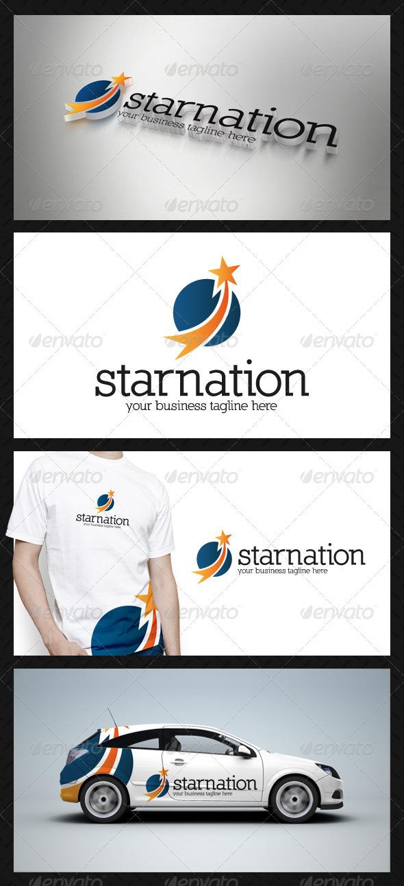 Star Circle Logo Template