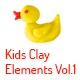 Kids Clay Elements Vol.1 - VideoHive Item for Sale