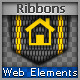 Fubric Ribbons for Web - GraphicRiver Item for Sale