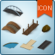 Map Icons and Elements - River and Road Kit - GraphicRiver Item for Sale