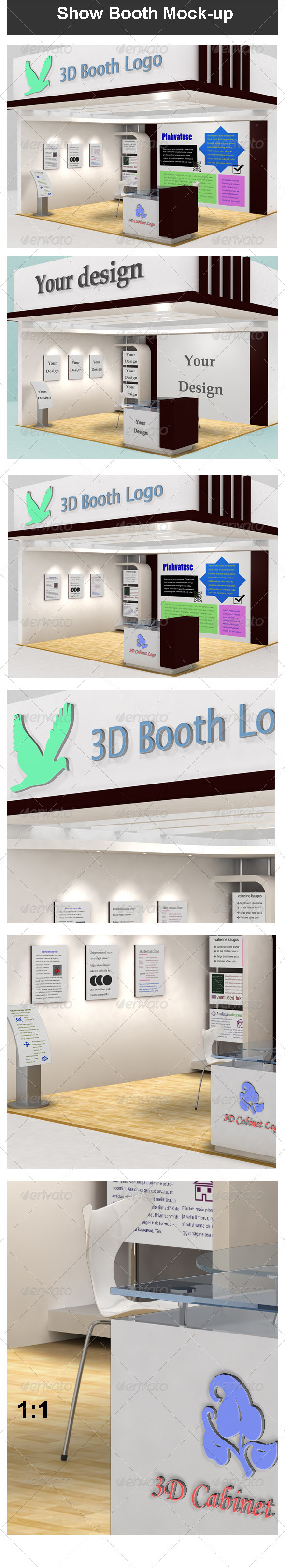 Exhibition Booth Psd : Yellow business simple exhibition booth template image picture