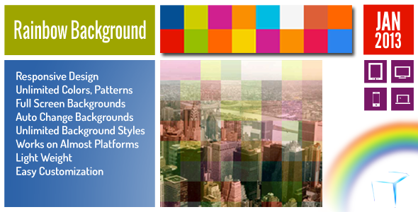Rainbow Background jQuery Plugin Download