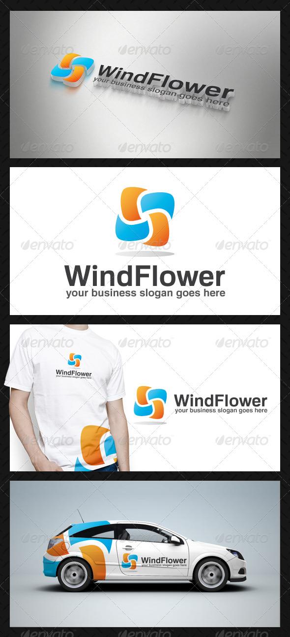 Wind Flower Logo Template