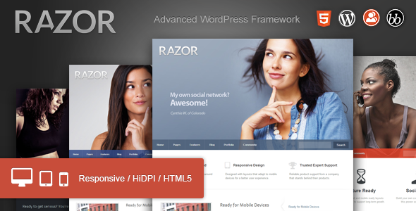 Razor: Cutting Edge WordPress Theme Download