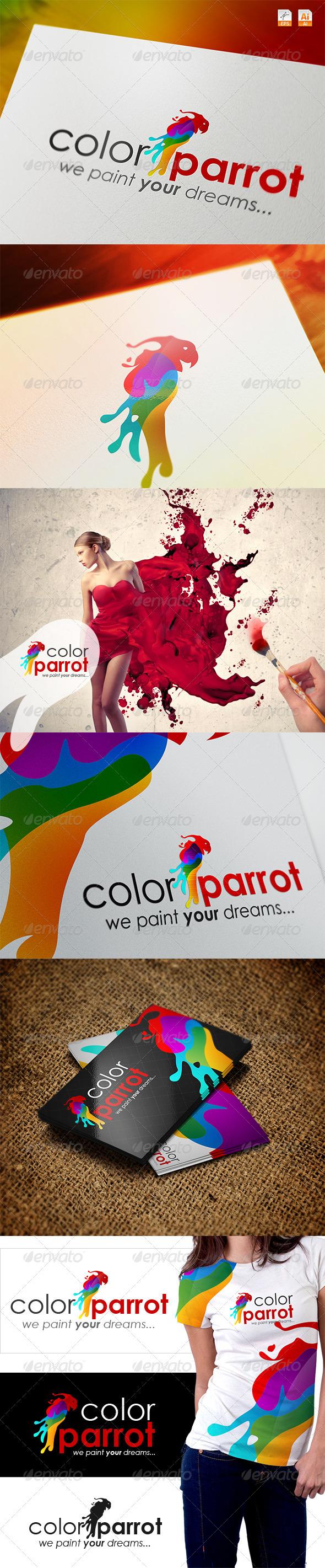 Color Parrot - We Paint Your Dreams Logo