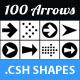 100 Arrows Set. Volume 01 - GraphicRiver Item for Sale