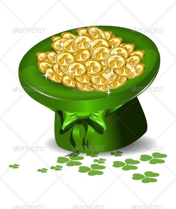 Green Hat with Money