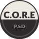 CORE - Multipurpose SinglePage PSD Template - ThemeForest Item for Sale
