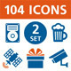 104 Vector Icons - Set 2 - GraphicRiver Item for Sale