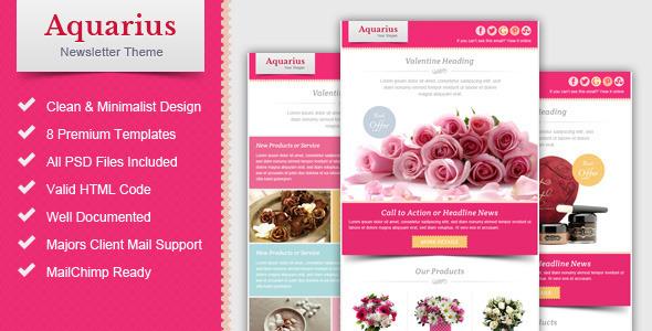 Valentine Email Marketing & Newsletter Template