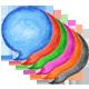 6 Speech Bubble Watercolor Circle Shape - GraphicRiver Item for Sale